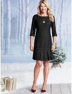 Worsted Crepe Bands On The Run Dress