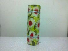 Estojo Margaridas e Fitinhas - Roll Paper Case Daisies and Ribbon - Lela Artes Artesanato - lelaartes2014@gmail.com