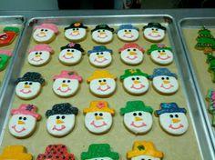 Snow head cookies