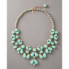 Kate Spade Turquoise Bib Necklace