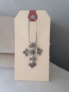 Sterling Silver Cross Necklace by MayaVintage on Etsy