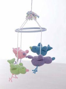 Crochet Baby Birdie Mobile - Free Crochet Mobile Pattern