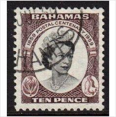 Bahamas Scott 177 - SG220, 1959 Postal Centenary 10d used stamps sur le France de eBid
