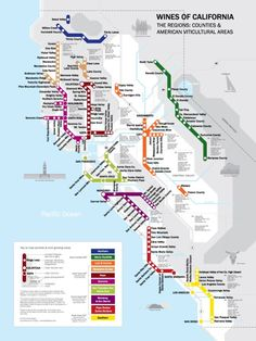 - interesting-maps:  Metro Wine Map of California by David Gissen