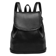 LUCLUC Black London Style Metallic Backpacks Expandable Bags (89 BAM) ❤ liked on Polyvore featuring bags, backpacks, bolsas, accessories, lucluc, rucksack bag, metallic bag, expandable bag, black knapsack and black rucksack