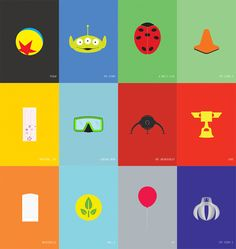 Minimalist Pixar Posters by Chris Anderson