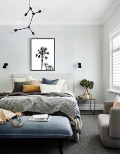12 gorgeous grey bedroom design ideas Grey is a great colour for creating a beautiful, restful bedroom. Browse our favourite grey bedroom design ideas to inspire your scheme Grey Bedroom Design, Bedroom Designs, Grey Bedroom With Pop Of Color, Bedroom Styles, Family Wall Decor, Decoration Inspiration, Decor Ideas, Decorating Ideas, Decorating Bedrooms