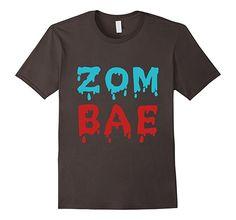 Mens Zom Bae Hilarious Zombie Bae Babe Tshirt Large Asphalt