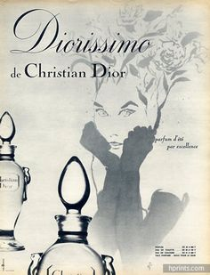 Christian Dior (Perfumes) 1964 René Gruau, Diorissimo