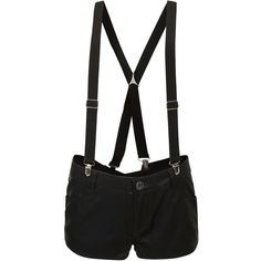 Abbey Dawn Black Leather-Look Braced Shorts discovered on Fantasy Shopper Short Outfits, Cute Outfits, Summer Outfits, Leather Look Shorts, Look Con Short, Abbey Dawn, Tokyo Street Style, Harajuku Girls, Shorts With Pockets