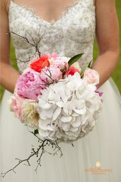 Pretty dress and stunning bouquet