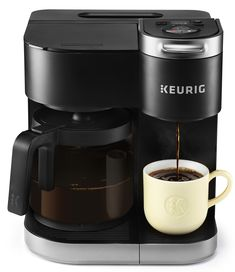 Introducing the K-Duo Single Serve & Carafe Coffee Maker: the perfect brewer for any occasion. This versatile brewer is the best of both worlds, using both K-Cup pods and ground coffee to brew a cup and a carafe of your favorite varieties.Create your Pod Coffee Makers, Coffee Pods, Drip Coffee Maker, Best Coffee Maker, Coffee Lovers, Carafe, Coffee Maker Reviews, Reusable Coffee Filter, Single Serve Coffee