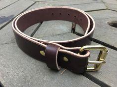 Leather Belt  Brown Dark english bridal 10oz by JBLeatherSupply