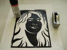 Self-portrait Stencil