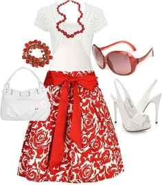 """""""RED"""" by azulabril ❤ liked on Polyvore"""