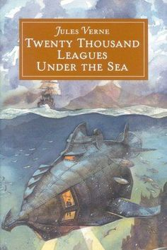 Twenty Thousand Leagues Under the Seas is a classic science fiction novel by French writer Jules Verne. It tells the story of Captain Nemo and his submarine Nautilus as seen from the perspective of Professor Pierre Aronnax. Best Adventure Books, Nautilus Submarine, Steampunk Book, Sea Captain, Leagues Under The Sea, Science Fiction Books, Sea Monsters, Book Authors, Play