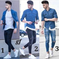 Qual look prefere 1️⃣,2️⃣or 3️⃣❓  @lookmodamasculina www.modamasculinaoficial.com.br ______________________________________________ #gentlemen #gentlemenfashion #dapper #menstrend #stylemen #menstyle #streetstyle #streetfashion #streetwear #menwithclass #menwithfashion #menwithstyle #homens #hombreconestilo #estilomasculino #modamasculina #fashionstyle #fashionblogger #fashionformen #fashiorismo #instafashion #instastyle #ootdmen #ootd #outfit #casual #menswear #followme #follow