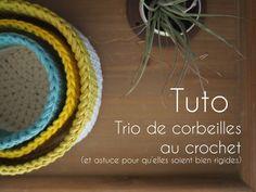 Tuto : Trio de corbeilles crochetées – Le blog de Caro Tricote