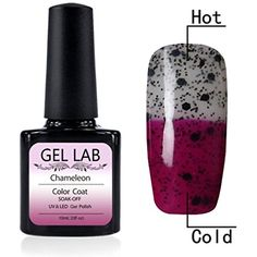 GEL LAB 10ml Temperature Changing Chameleon Color Changing Soak Off Gel Nail Polish Nail Vanish UV Lamp TC5005 * Want additional info? Click on the image. (This is an affiliate link) #FootHandNailCare