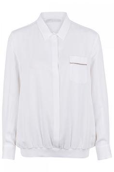 Fabiana Filippi Damen Bluse mit Strickbund Weiss | SAILERstyle Shirts, Shirt Dress, Mens Tops, Dresses, Fashion, Ponchos, Shirt Collars, Knit Jacket, Blouse