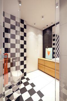 Washroom Tiles, Best Bathroom Tiles, Bathroom Tile Designs, Large Bathrooms, Amazing Bathrooms, Bathroom Inspiration, Interior Inspiration, Toilet Shelves, Design Case