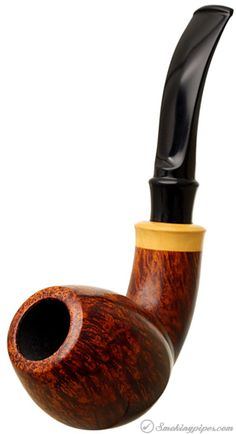 Danish Estate S. Bang Smooth Bent Egg with Boxwood (B) (9mm) (Unsmoked) Pipes…