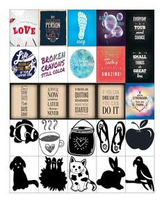 Free Printable-Motivational Quote Planner Sticker Sheet