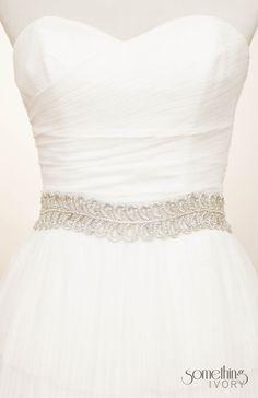 EUNICE - Silver Beaded Bridal Sash, Wedding Belt. $165.00, via Etsy.