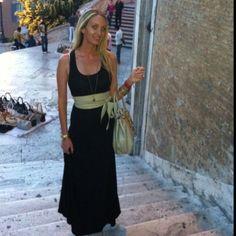 Spanish steps-  Max Mara belt Prada purse Bangles from India Dress from re- sale shop no tags