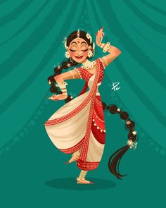 The Character Design Challenge! Art by Tossapon Kongpipattanakarn‎ Character Design Challenge, Character Design Cartoon, 3d Model Character, Drawing Cartoon Characters, Character Art, Indian Women Painting, Indian Art Paintings, Indian Illustration, Dancing Drawings