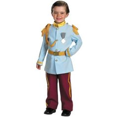 This is a beyond adorable Prince Charming costume but I don't think many boys would want to wear it...:-)