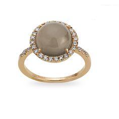 Zoccai 18K Rose #Gold #Moonstone & #Diamond #Ring