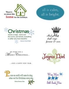Christmas sentiments download