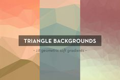 18 Geometric Triangle Backgrounds by spacelab on Creative Market
