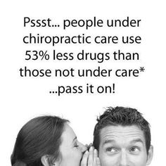 People under chiropratic care use 53% less drugs than those not under care… Chiropractic Arts Center of Austin, P.C. :: www.cacaustin.com :: (512) 346-3536