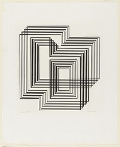 Josef Albers. Graphic Tectonic. 1942. Series of eight lithographs. Gift of the artist. 278.1968.1-8. © 2017 The Josef and Anni Albers Foundation / Artists Rights Society (ARS), New York. Drawings and Prints