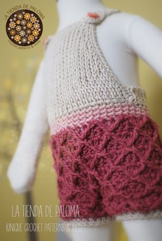 """Crochet Waffle """"Gaufre"""" Dress/Overalls/Romper pattern by La tienda de Paloma"""