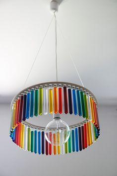 Maria S.C. single test tubes chandelier / lamp / garden / wedding decoration