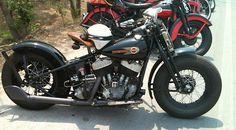 #harleydavidson #flathead #hardtail #springer #classic #vintage #motorcycle #bobber