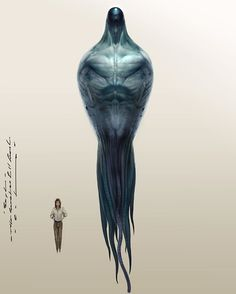 Sketches for Arrival..The upper torso Denis and I viewed as an image of death or a wraith.. in contrast to its message..