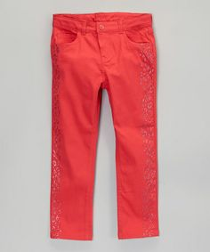 Pink Leopard Jeans - Girls by French Toast on #zulily today!