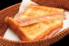 Grilled Ham and Gouda Sandwich w/ Carmelized Onions