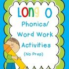 Word work/phonics activities for long o-e, oa, ow!