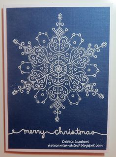 Debbies Creations: Need Last Minute Christmas Cards? (Stampendous Delicate Snowflake)