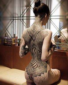 tattoo, girl, all back Brilliant