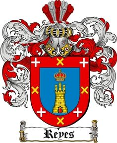 Reyes Coat of Arms / Reyes Family Crest - This very ancient surname REYES was derived from the Old English word 'ea'. Family Crest Tattoo, Family Tattoos, Jones Family Crest, Irish Coat Of Arms, Old English Words, Family Shield, Crests, Old Things, Flag