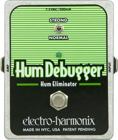 Electro-Harmonix XO Hum Debugger Hum Eliminator Guitar Effects Pedal Great for playing gigs where u might not know what the electrical situation is gonna be.