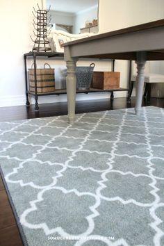 fancy trellis mohawk rug love my new rug#somuchbetterwithage #diningroom #rug #fancytrellisrug #mohawkhome #ilovemymohawkrug #rug