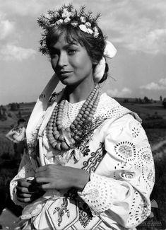 Actress Krystyna Mikołajewska in a folk costume of. Goddess Art, Moon Goddess, Folk Costume, Costumes, Folk Clothing, Vintage Clothing, Roman Mythology, Greek Mythology, Principles Of Art