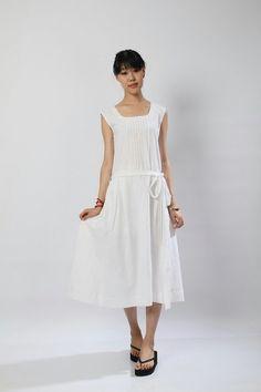Stereo Hearts-White clear linen Sundress(more colour and size choice) by FashionColours on Etsy https://www.etsy.com/au/listing/105692664/stereo-hearts-white-clear-linen